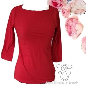 A New Day Red 3/4 Sleeve Shirt XS